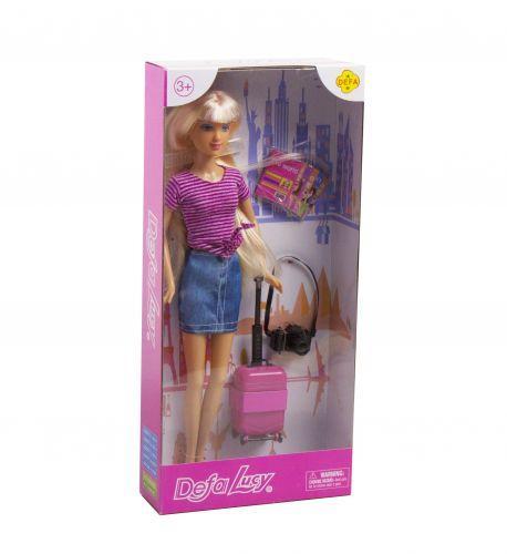 """Кукла """"Defa: путешественница"""" (в сиреневом)"""