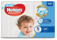 Huggies Ultra Comfort for Boys 5 (12-22кг) 42 шт (1шт-6,79грн)