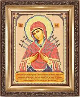 Схема для вішивки бисером Богородица Семистрельная
