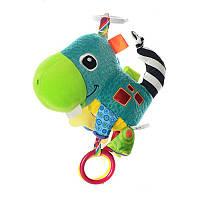 Подвеска на коляску 3 предмета: бабочка, ослик, дракоша