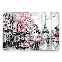 Чехол книжка, обложка для Apple iPad (Paris Love) Air 1 / 9.7 (2017 2018) A1474/A1475/A1476/A1822/A1823/A1893/A1954 айпад case smart cover