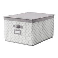 SVIRA  Коробка с крышкой, серый, белый цветы, фото 1