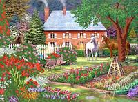 Схема для вышивки бисером  В саду в корзине РКП-163