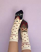 Махровые длинные носки