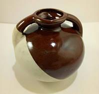 Вазочка Круглая молочно-коричневая / Украинский Сувенир 6x7 см