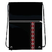 Сумка для обуви и спортивной формы с карманом, узор вышиванка