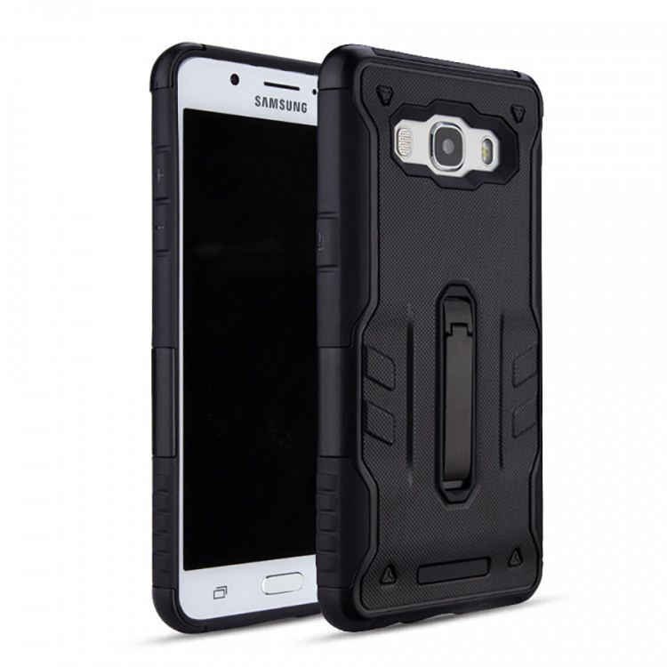 Накладка Hard Case vs Metal Kickstand для Samsung Galaxy J7 2015 J700/J701 Neo Черная ( PC-001777)