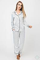 Пижама Кристи DONO полоска тонкая черная
