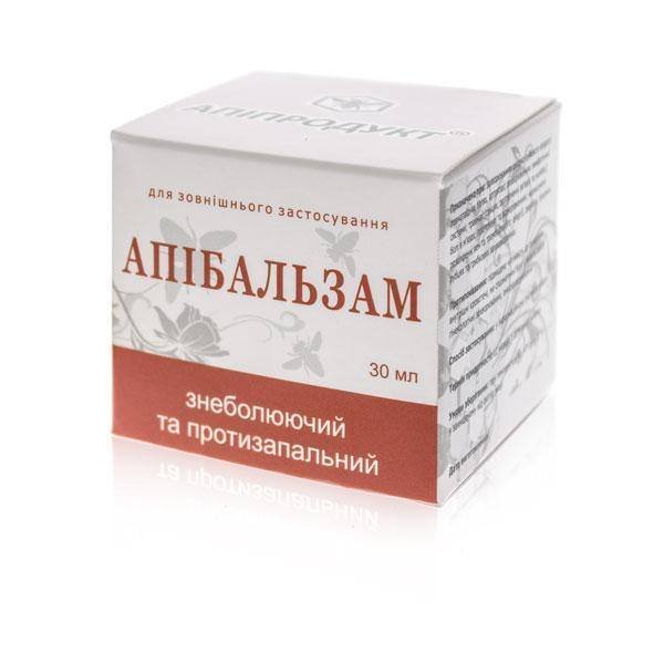 Апибальзам Обезболивающий и противовоспалительный при заболеваниях опорно-двигательного аппарата, 30 мл.