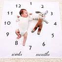 Пелёнка для фотосессий для новорождённого по месяцам 11, фото 2