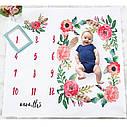 Пелёнка для фотосессий для новорождённого по месяцам 05, фото 2