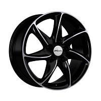 Ronal R51 Basis R16 W7 PCD5x108 ET45 DIA76.1 jet black front diamond cut