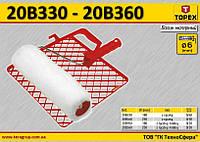Ролик малярный + решетка + рукоятка, W-180мм,  TOPEX  20B350