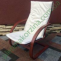 Кресло-качалка пружинное с белым матрасом Арт.1268