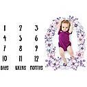 Пелёнка для фотосессий для новорождённого по месяцам 10, фото 2