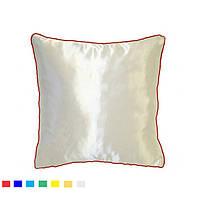 Подушка квадрат кант красный