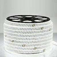 Светодиодная лента супер яркая 2835-180 220В, герметичная, белый свет