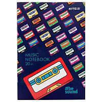 Тетрадь для нот Kite BeSound K19-404-1 А4, 20 листов