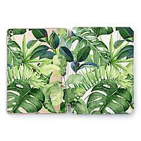 Чехол книжка, обложка для Apple iPad (Тропические растения) Air 1 / 9.7 (2017 2018) A1474/A1475/A1476/A1822/A1823/A1893/A1954 айпад case smart cover