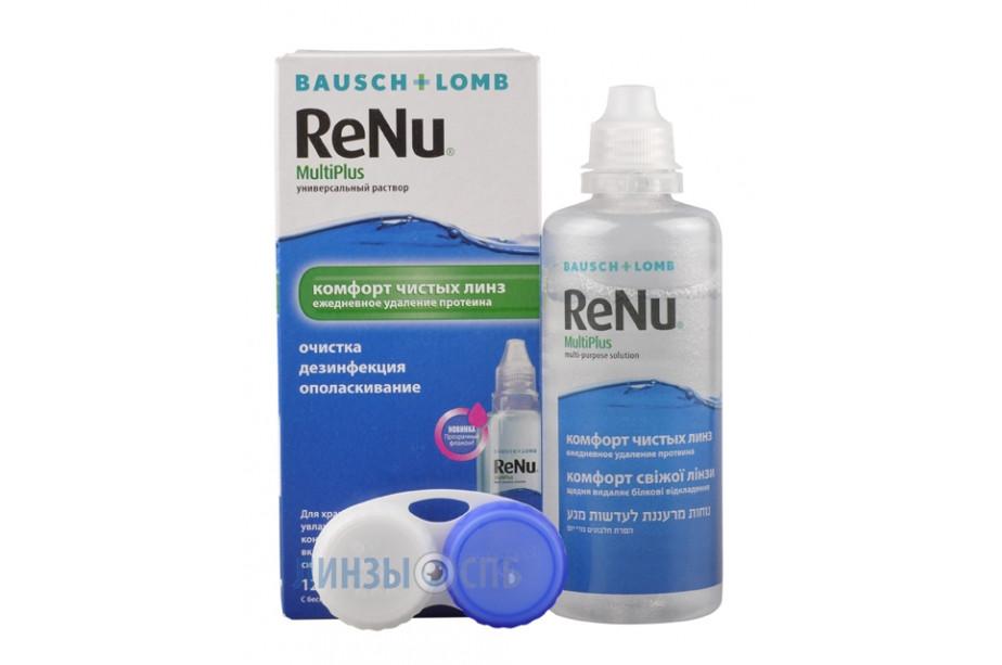 Раствор для контактных линз Renu 120 мл
