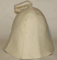 Шапка для сауны белая фетровая без вышивки