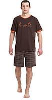 Домашний костюм  мужской, М/48,  оттенки коричневого,  HOTBERG