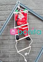 Новогодняя фигурка Bonita Санта Клаус 60 см на лестнице