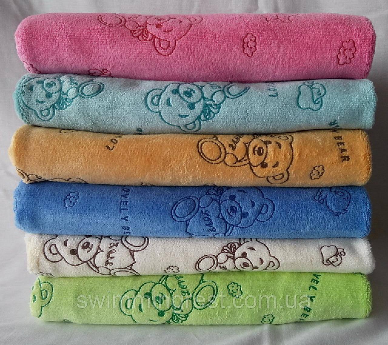 Детское полотенце банное большое простынь микрофибра Турция 100х100