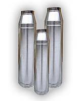 Дымоходная труба 0,5 мм из нержавеющей стали с оцинковкой, фото 1