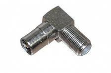 Штекер антенный металлический угловой