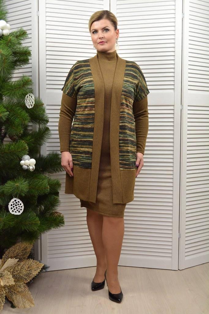 Комплект: Платье и кардиган - Модель Л200-2+Л418-2
