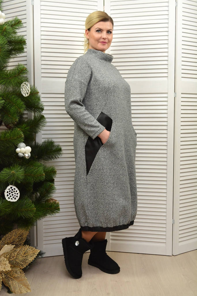 Платье теплое с карманами - Модель Л383-4
