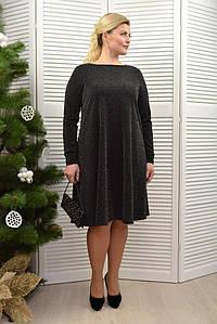 Платье черное с люрексом - Модель Л397-18