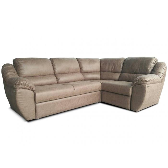 Угловой диван Рафаэло 2.6 серый Элизиум