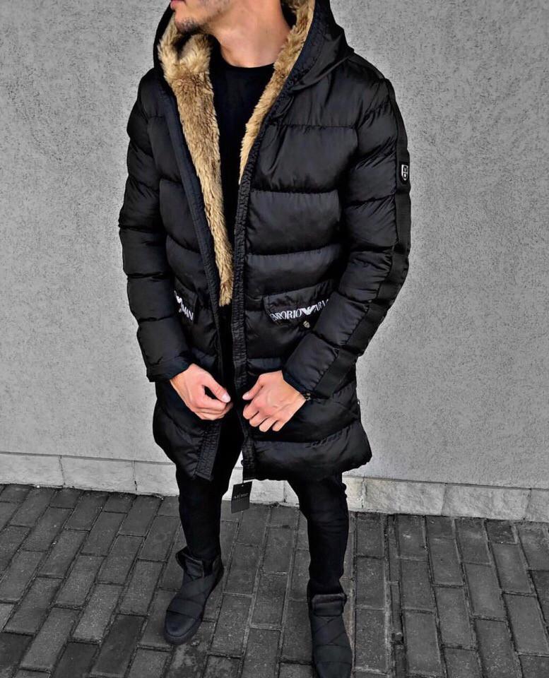 7b67c3fb59a2 Мужской зимний пуховик Emporio Armani - Магазин одежды и обуви в Киеве