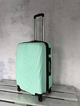 Валізу з полікарбонату середній валізу м'ятний Польща / Валіза середня з полікарбонату, фото 3