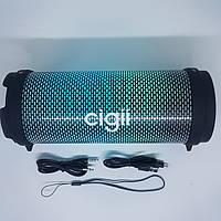 Беспроводная блютуз колонка Cigii S33R Bluetooth акустика FM USB с Цветомузыкой