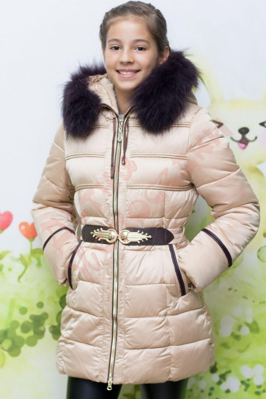 745e1f017ba Пальто зимнее для девочки с опушкой