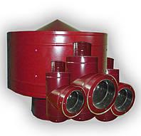 Дымоходы: Тройник. Колено. Грибок.Трубы 0,5 мм из нержавеющей стали с покрытием