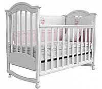 Детская кроватка Соня ЛД 3 маятник + шухляда  (белый)
