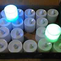 Свеча LED мерцающая разноцветными огнями