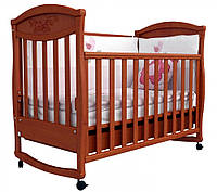 Детская кроватка Соня ЛД 4 декор зайчик (ольха)