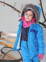 Детская зимняя куртка на овчине (86-128 в расцветках), фото 1