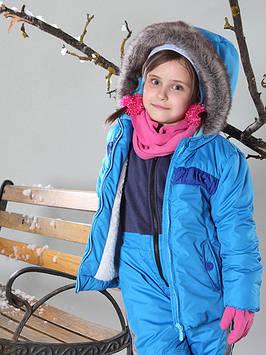 Детская зимняя куртка на овчине (86-128 в расцветках)