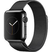 Apple Watch Series 3 GPS + Cellular 38mm Space Black Stainless Steel with Space Black Milanese Loop (MR1H2), фото 1