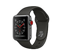 Apple Watch Series 3 GPS + Cellular 38mm Space Gray Aluminum with Gray Sport Band (MR2W2), фото 1