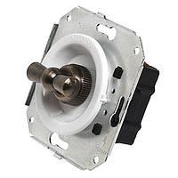 Ретро выключатель двухклавишный поворотный для внутреннего монтажа