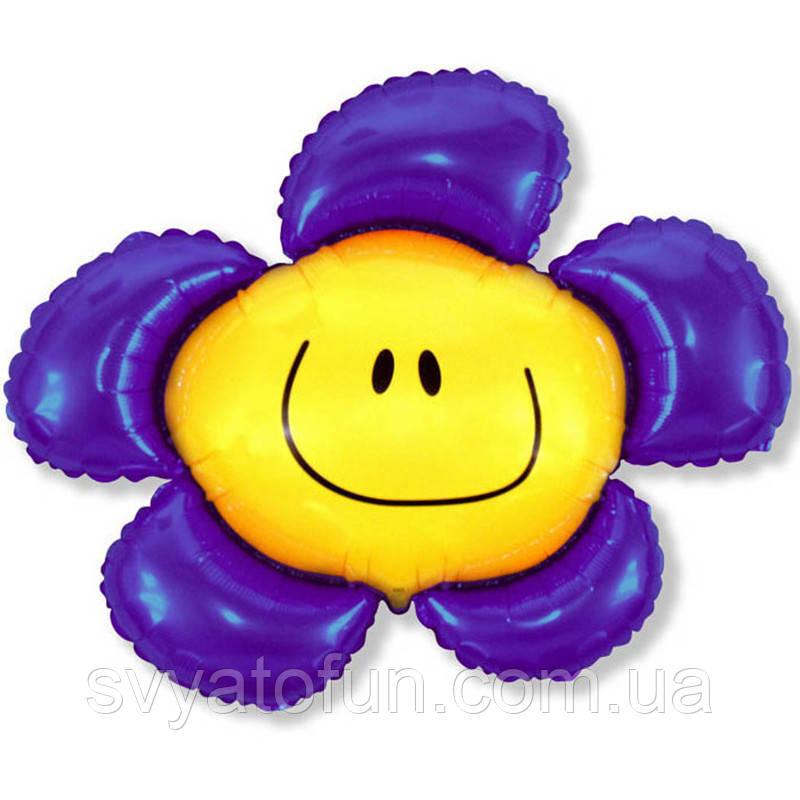 Фольгированный шар фигура Цветок фиолетовый 901548 FlexMetal