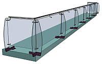 Скляне огородження з ребрами жорсткості, фото 1