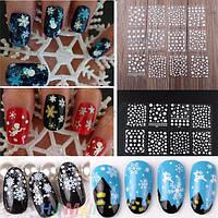 Наклейки для ногтей новогодние BLE SMY 049-060